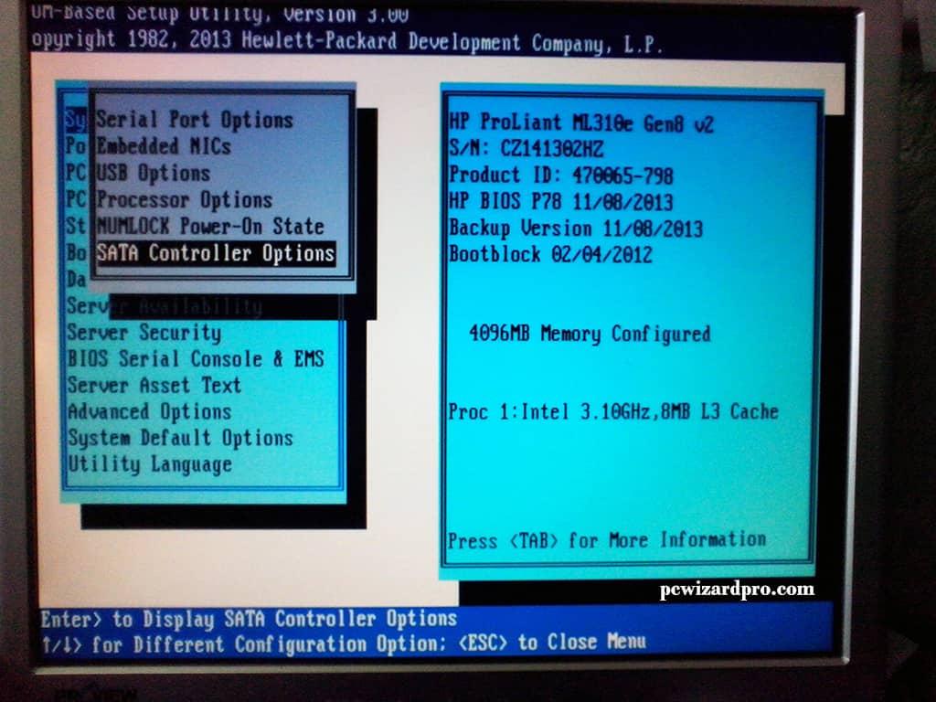 HP Proliant ML310e Gen8 V2 Windows 7 Install | PCWIZARDPRO