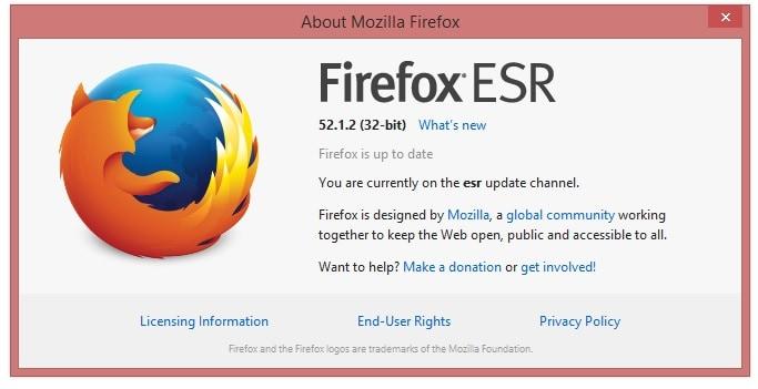 Mozilla 52 ESR